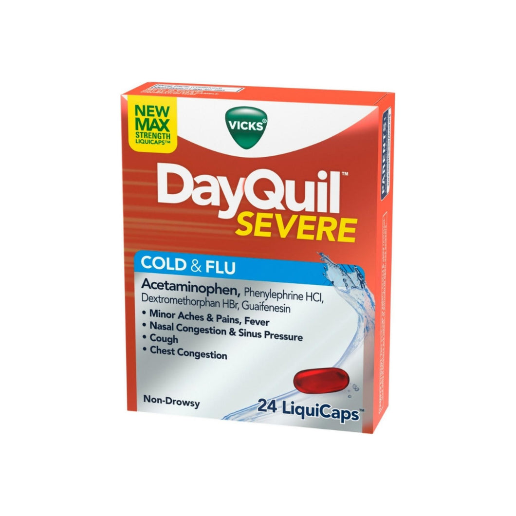 Vicks DayQuil Severe Cold & Flu Relief LiquiCaps, 24 ea