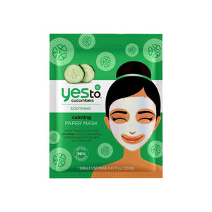 Yes To Cucumbers Calming Paper Mask,  1 ea