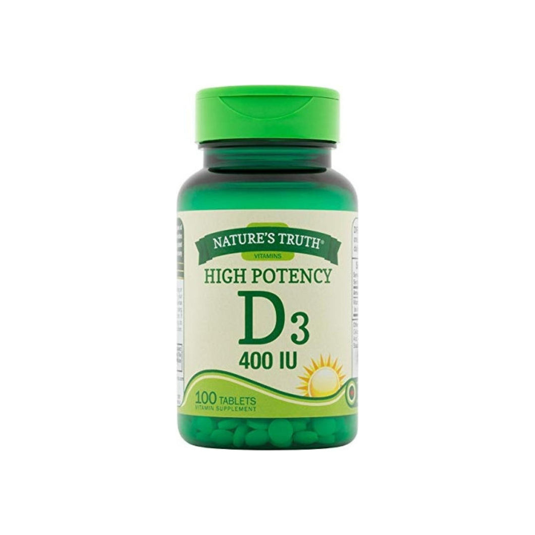 Nature's Truth Vitamin D3, 400 IU, 100 ea