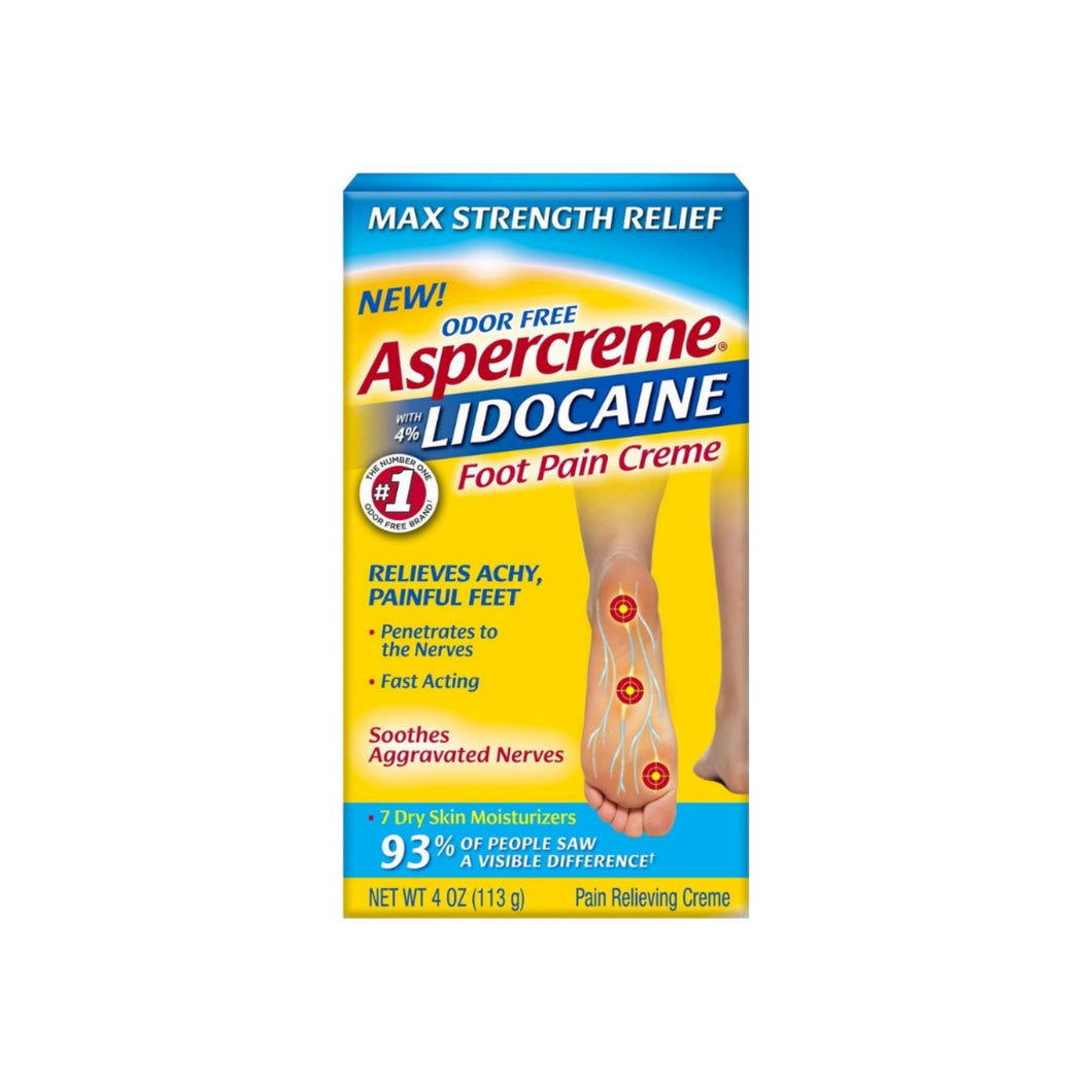 Aspercreme Lidocaine Foot Pain Creme, 4 oz