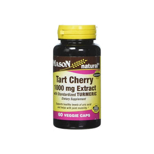 Mason Natural Tart Cherry Extract with Standardized Turmeric Softgels,  60 ea