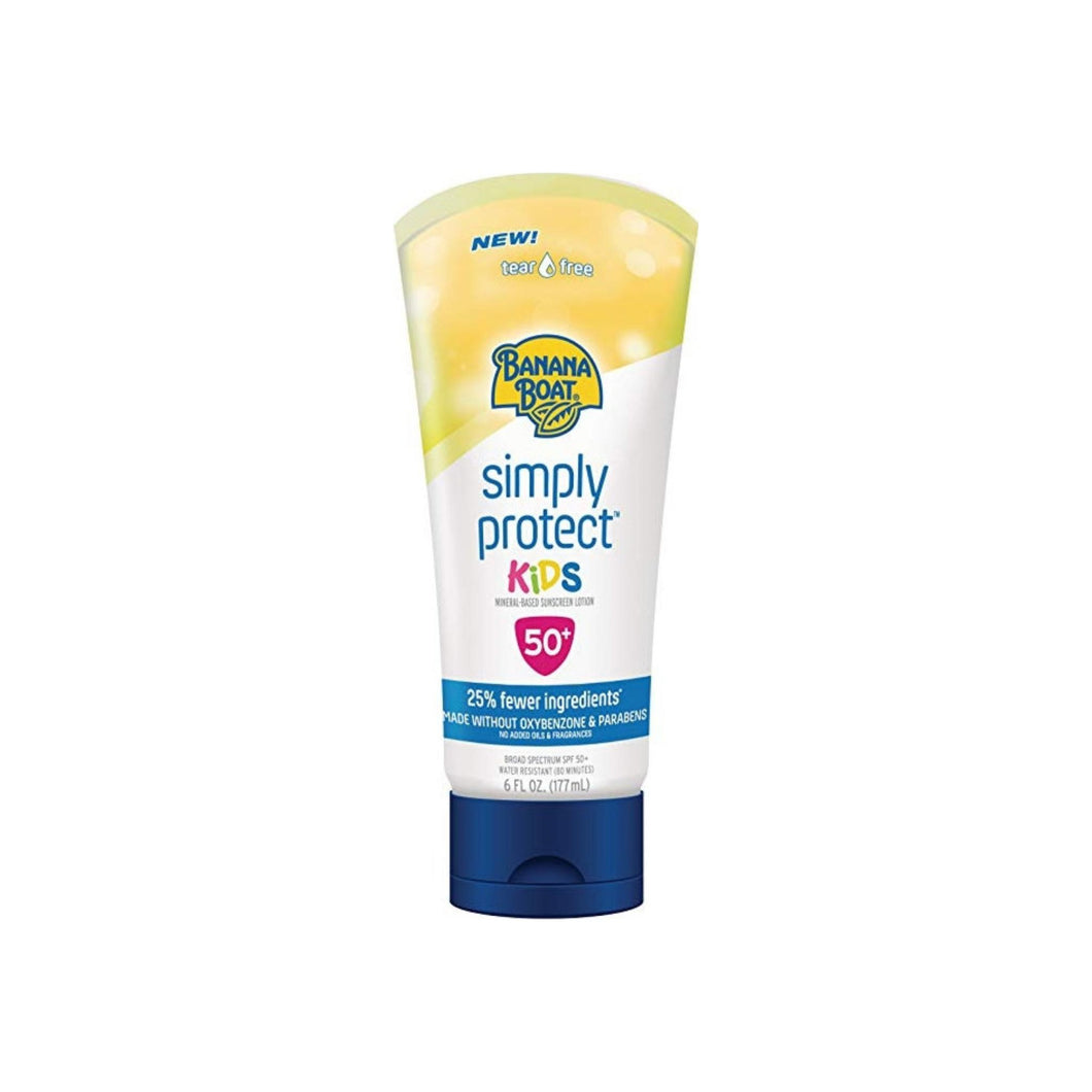 Banana Boat Simply Protect Sunscreen Lotion for Kids SPF 50+, 6 oz