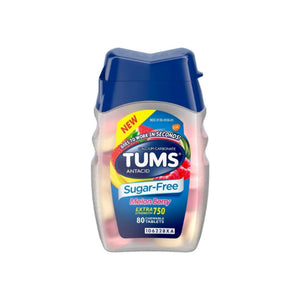 TUMS Extra Strength Antacid Sugar Free Melon Berry Chewable Tablet, 80 ea