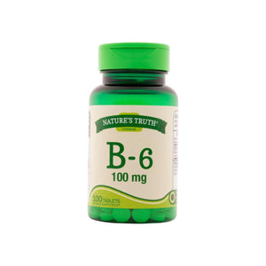 Nature's Truth Vitamin B-6 100 mg Tablets, 100 ea