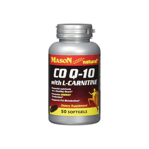 Mason Natural CO Q-10 with L-Carnitine Softgels,  50 ea
