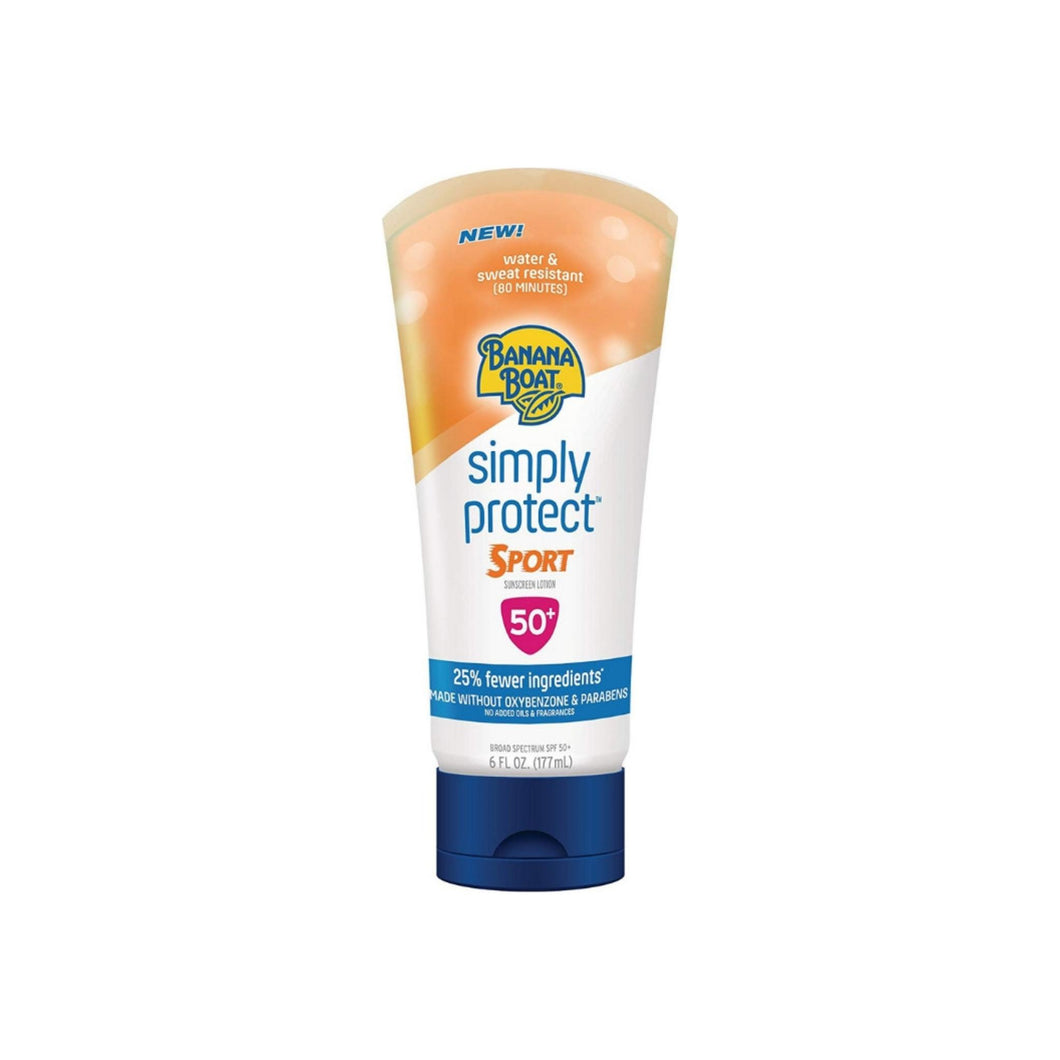 Banana Boat Simply Protect Sport Sunscreen Lotion, SPF 50+, 6 oz