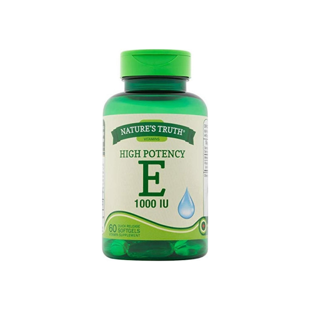 Nature's Truth Vitamin E High Potency 1000 IU, 60 ea