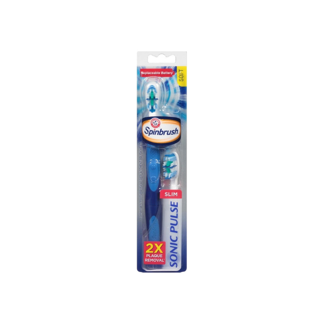 ARM & HAMMER Spinbrush Sonic Pulse Powered Toothbrush, 1 ea