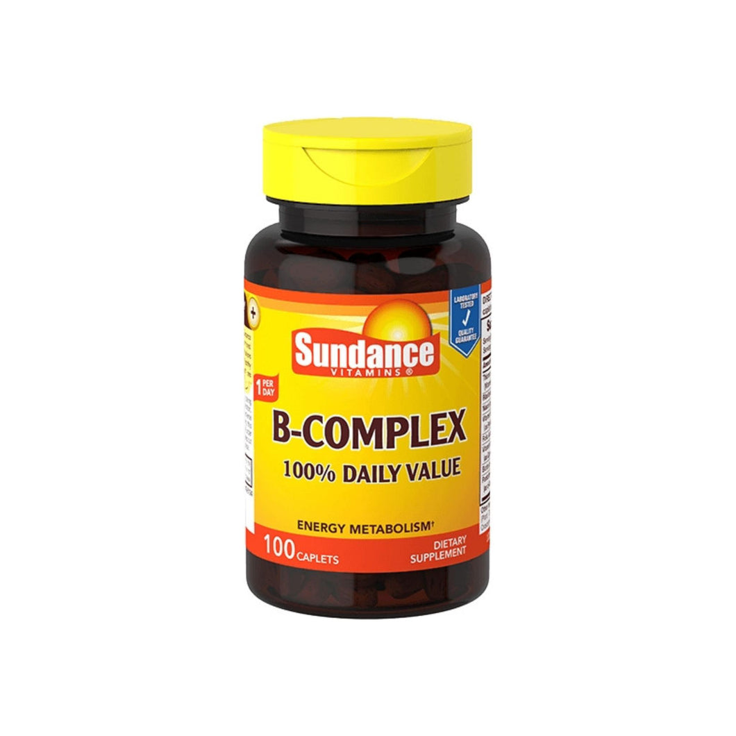 Sundance Vitamins B-Complex 100% Daily Value, 100 ea