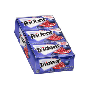 Trident Blueberry Twist Sugar Free Gum with Xylitol,  12 ea