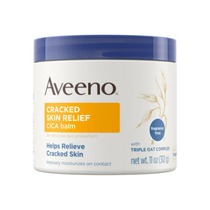 Aveeno Cracked Skin Relief CICA Balm with Triple Oat Complex, Moisturizing Dimethicone Skin Balm, Fragrance-Free 11  oz