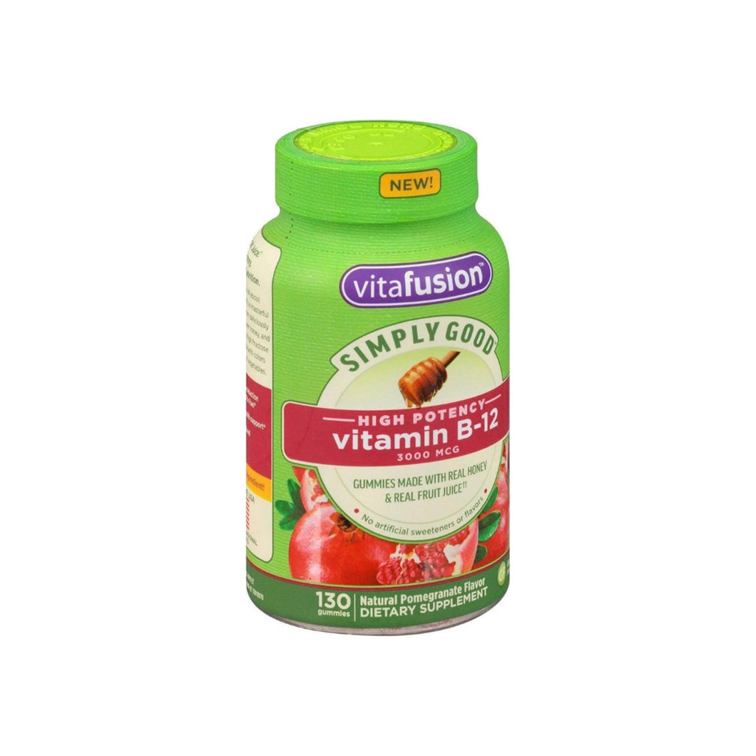 Vitafusion Simply Good High Potency Vitamin B-12, Pomegranate, 130 ea