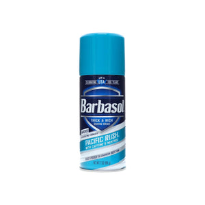 Barbasol Pacific Rush with Caffeine and Menthol Thick & Rich Shaving Cream 7 oz