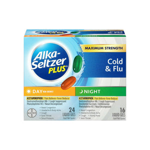 Alka-Seltzer Plus Multi-Symptom Cold & Flu Formula Day/Night Liquid Gels 40 ea
