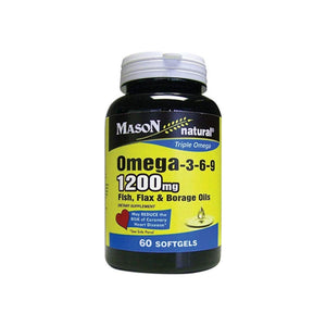 Mason Natural Omega 3-6-9,Fish, Flax and Borage Oils, 60 ea