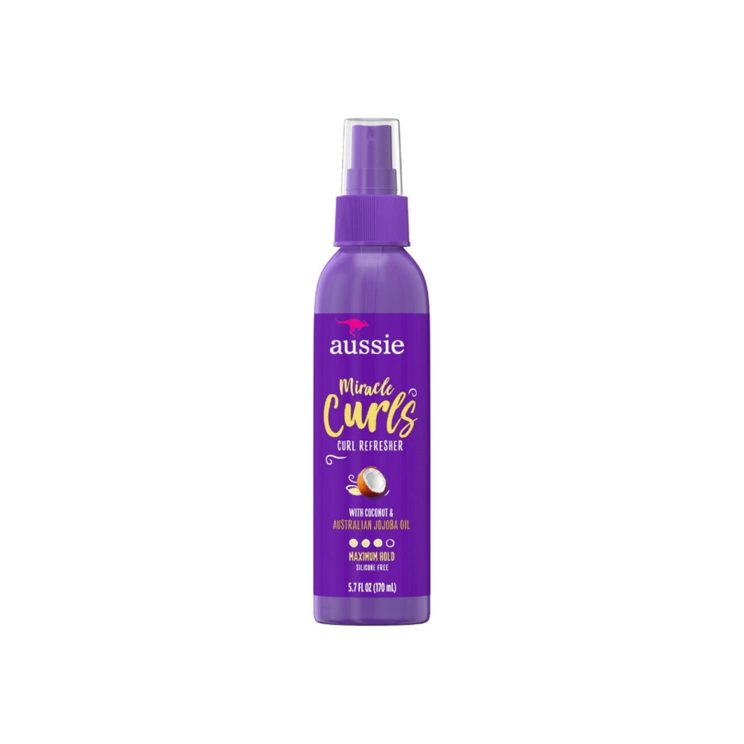 Aussie Miracle Curls Refresher Spray With Coconut & Jojoba 5.7 oz