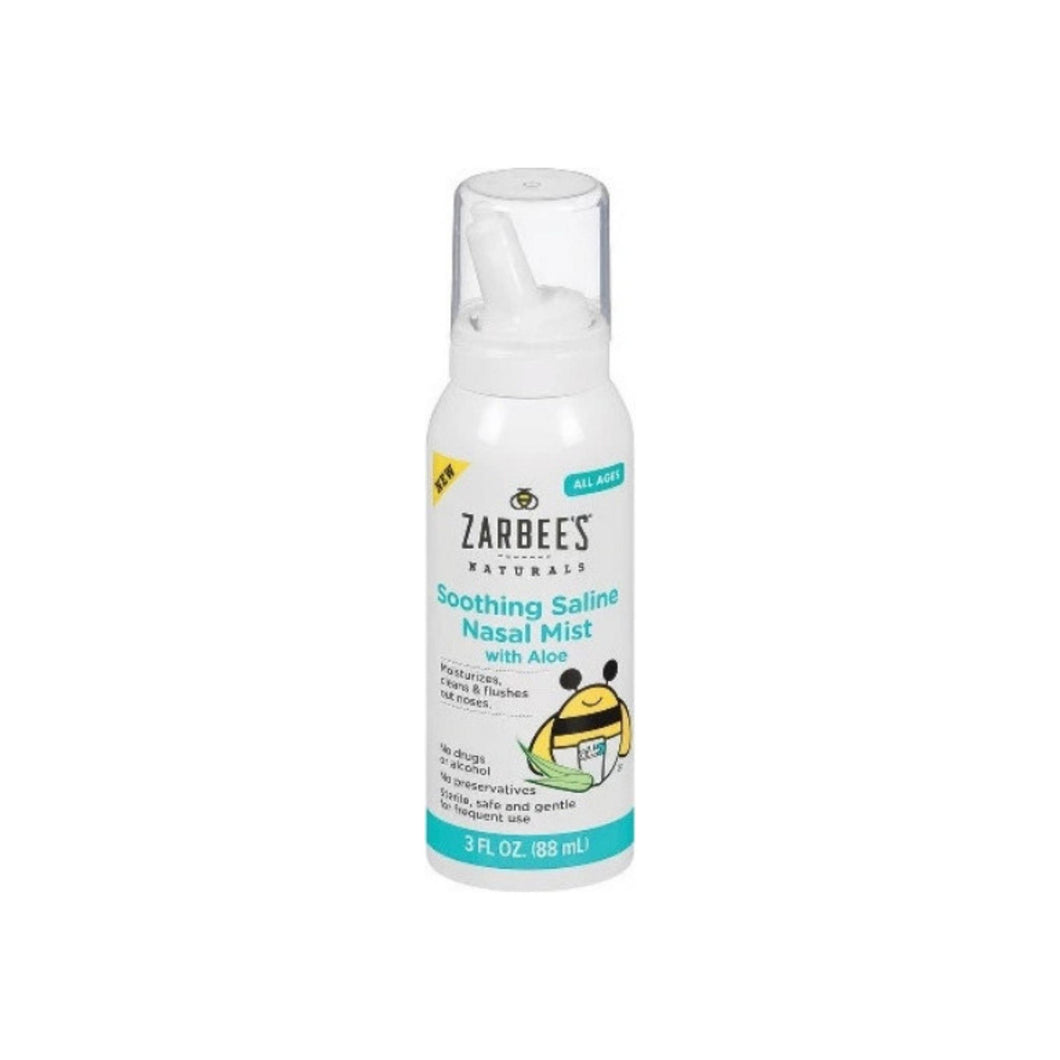 Zarbee's Naturals Soothing Saline Mist with Aloe, 3 oz 1 ea