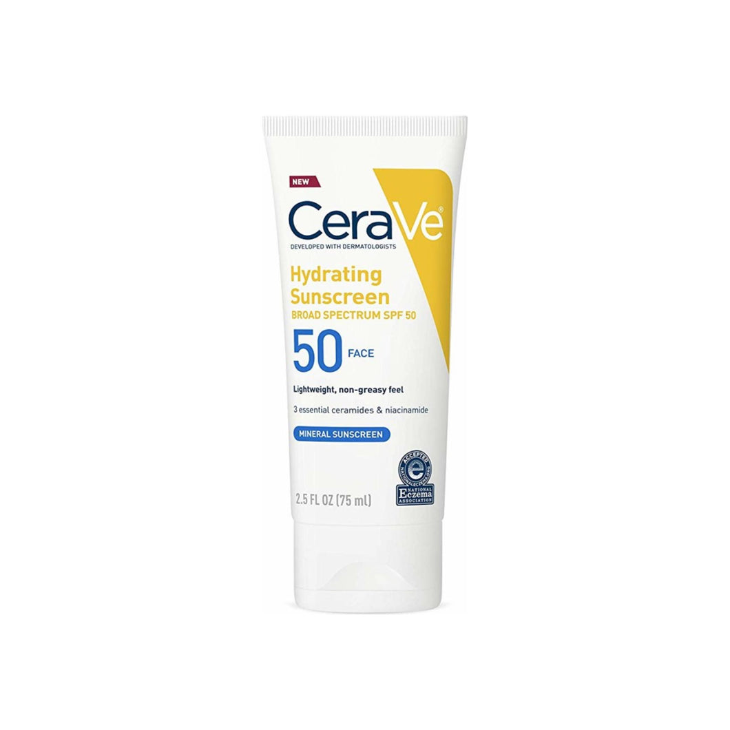 CeraVe Hydrating Sunscreen SPF 50 Face 2.5 oz