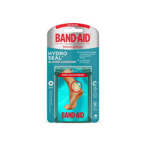 BAND-AID Brand Hydro Seal Blister Cushion Bandages, Waterproof Adhesive Pads, Medium, 5 ct 1 ea