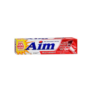Aim Multi-Benefit Cavity Protection Cinna Mint Gel Toothpaste 5.5 oz