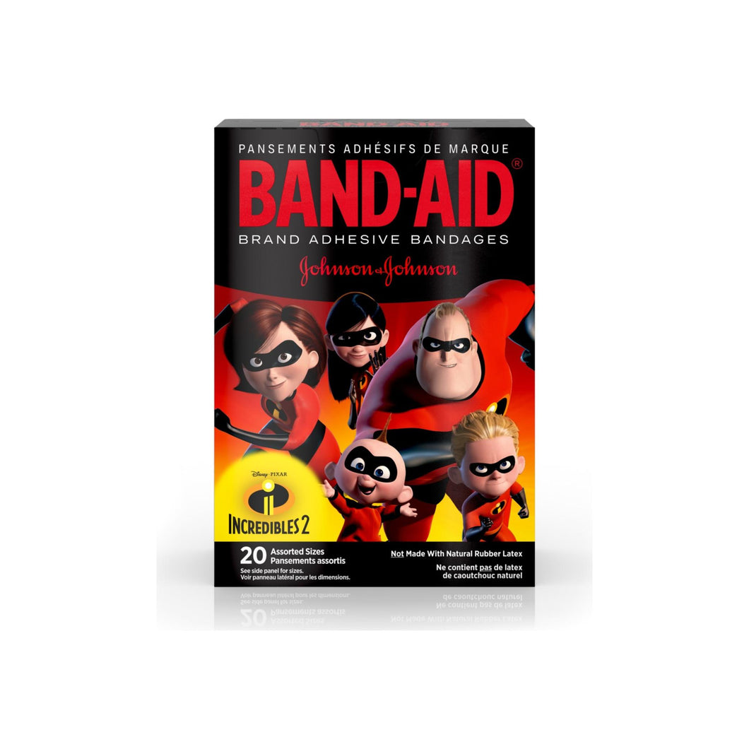 BAND-AID Brand Adhesive Bandages, Incredibles 2 Assorted Sizes 20  ea