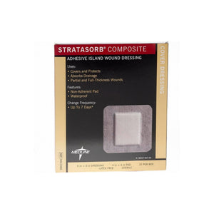 "Medline Stratasorb Composite Dressings 6""X 6"" 10 ea"