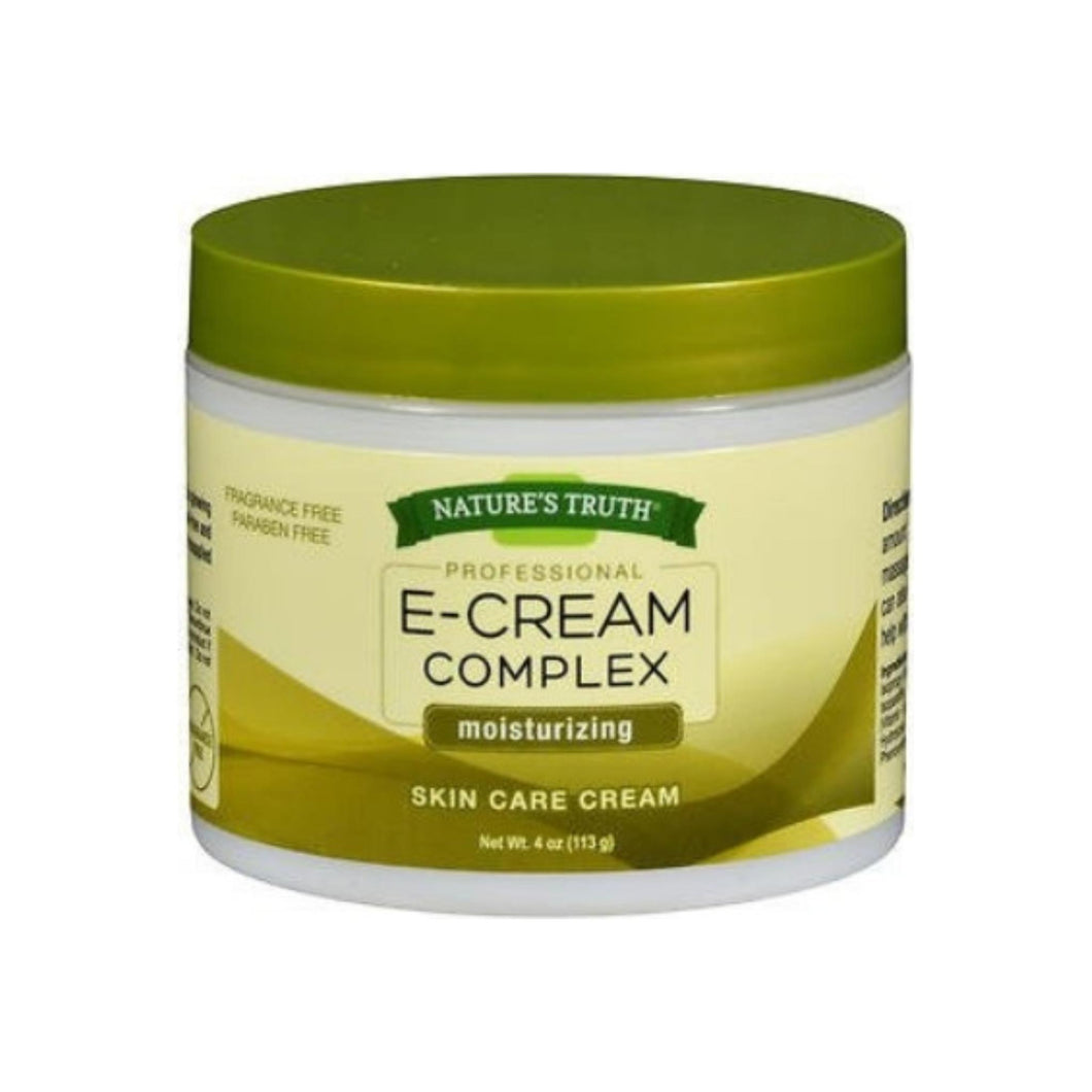 Nature's Truth Professional E-Cream Complex Moisturizing Skin Care Cream, 4 oz