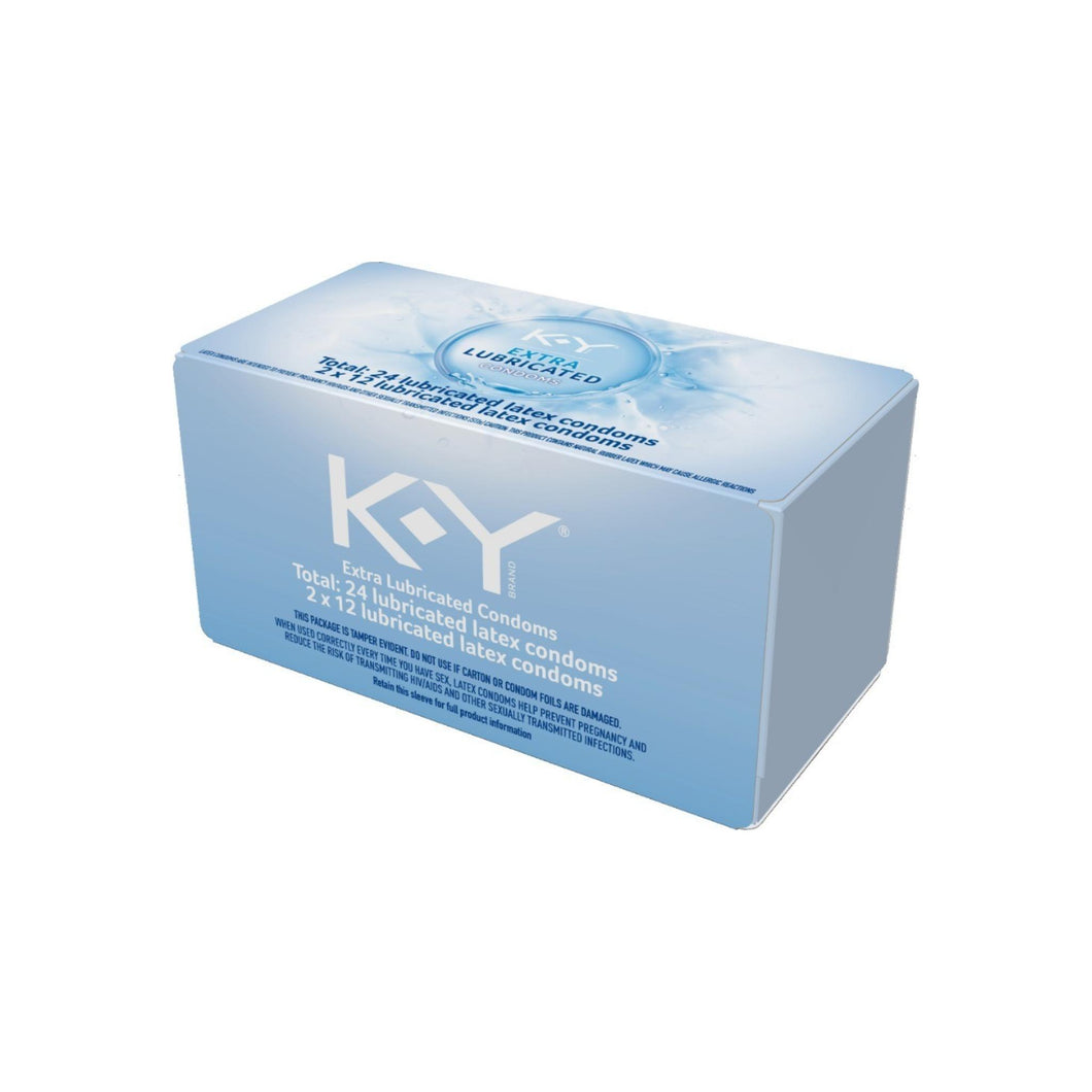 K-Y Extra Lubricated Latex Condoms, Discreetly Packaged With Extra Lubrication For Comfort & Smoothness, Natural Fit For Him & Ultra Thin 24 ea