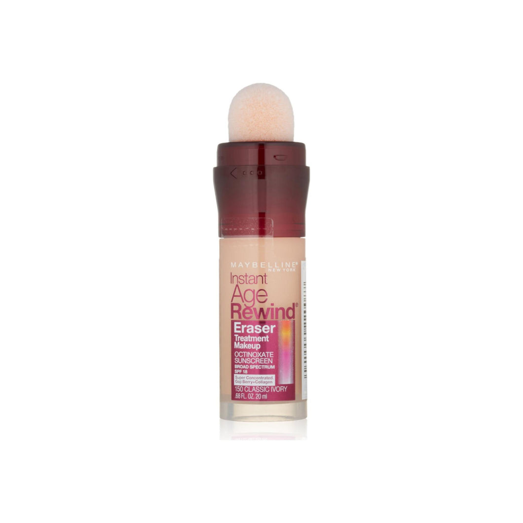 Maybelline New York Instant Age Rewind Eraser Treatment Makeup, Classic Ivory [150], 0.68 oz