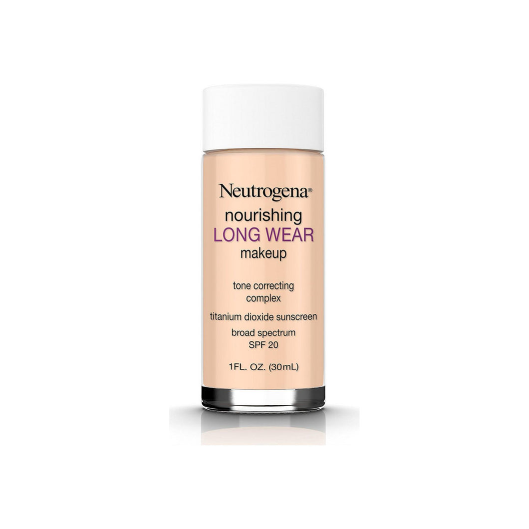 Neutrogena Nourishing Long Wear Liquid Makeup Foundation With Sunscreen, 40 Nude, 1 oz