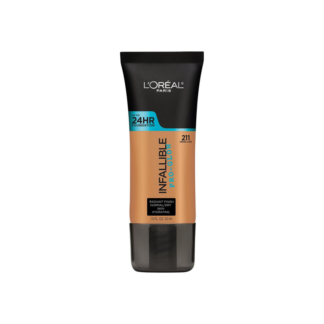 L'Oreal Paris Infallible Pro-Glow Foundation, Creme Cafe, 1 oz