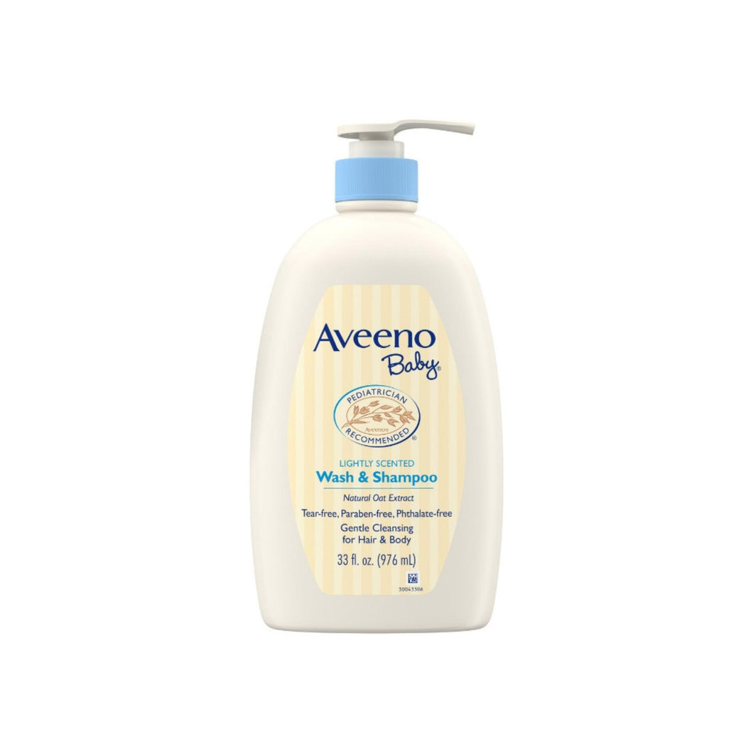 AVEENO Baby Gentle Wash & Shampoo with Natural Oat Extract, Tear-Free &, Lightly Scented, 33 oz