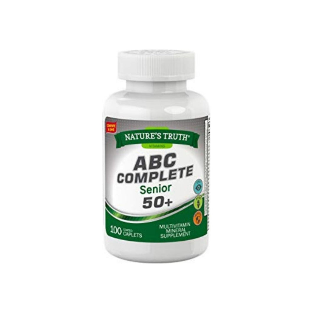 Nature's Truth ABC Complete Senior 50+ Multivitamin Mineral Supplement, 100 ea