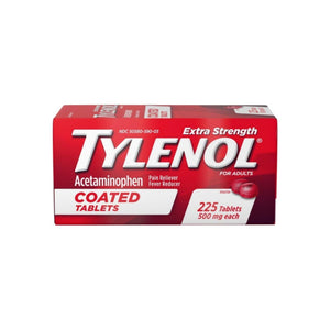 Tylenol Extra Strength Acetaminophen Adult Pain Relief & Fever Reducer Coated Tablets, 225 ea