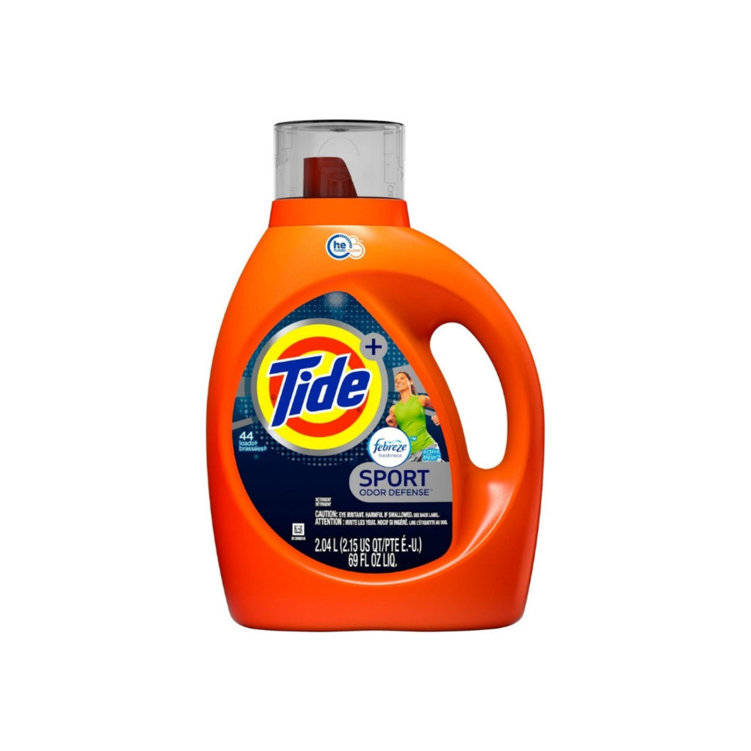 Tide Sport Febreze Active Fresh Scent High Efficiency Liquid Laundry Detergent, 69 oz