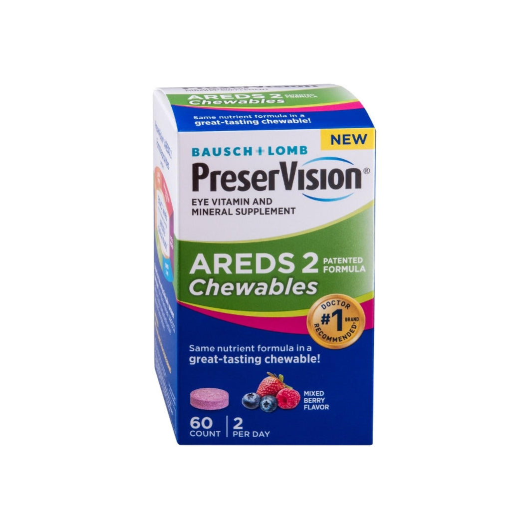 Bausch & Lomb AREDS 2  Eye Vitamin & Mineral Supplement, 60 ea
