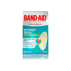 JOHNSON'S Band-Aid Brand Hydro Seal Adhesive Bandages for Heel Blisters, 6 ea