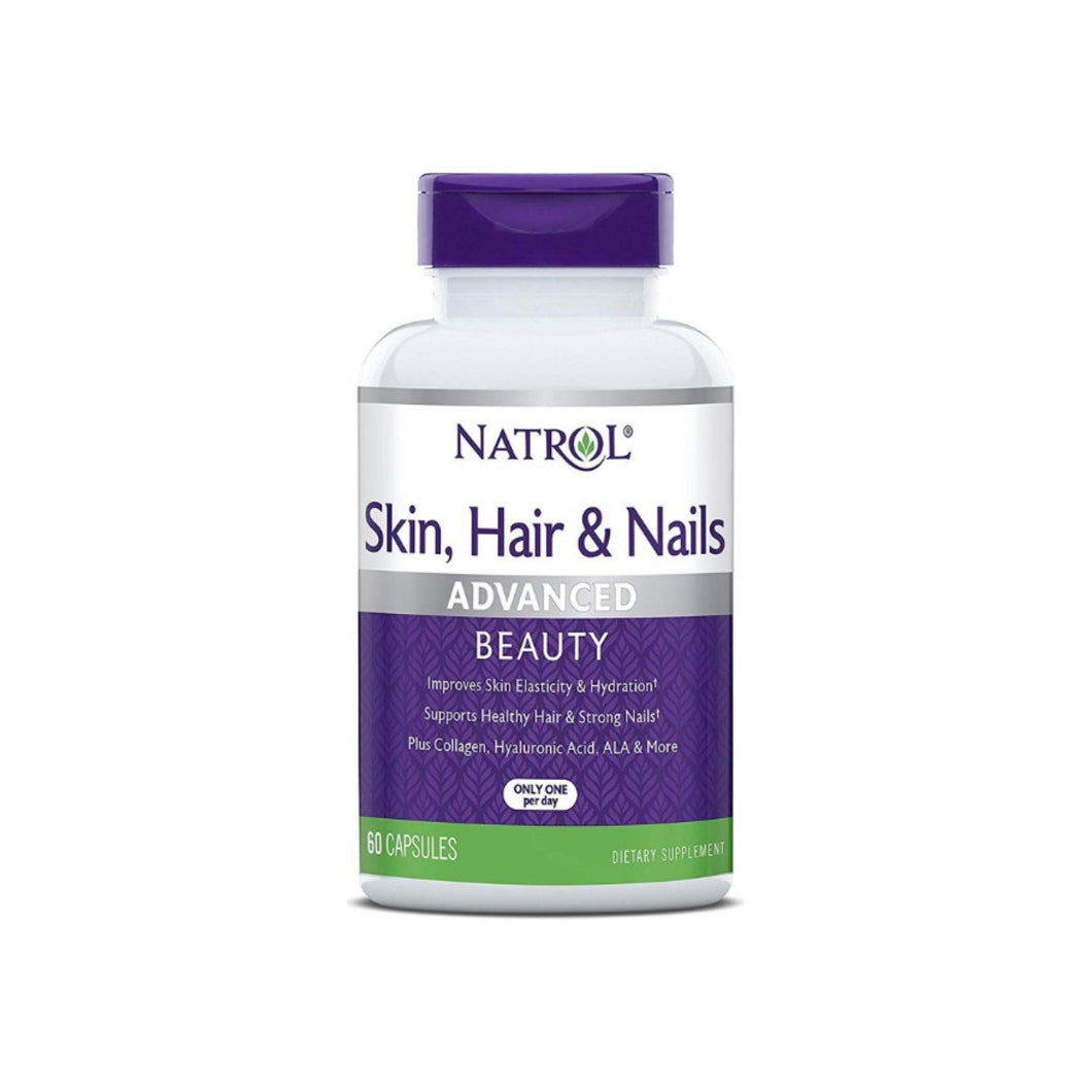Natrol Skin, Hair and Nails Advanced Beauty Capsules, 60 ea