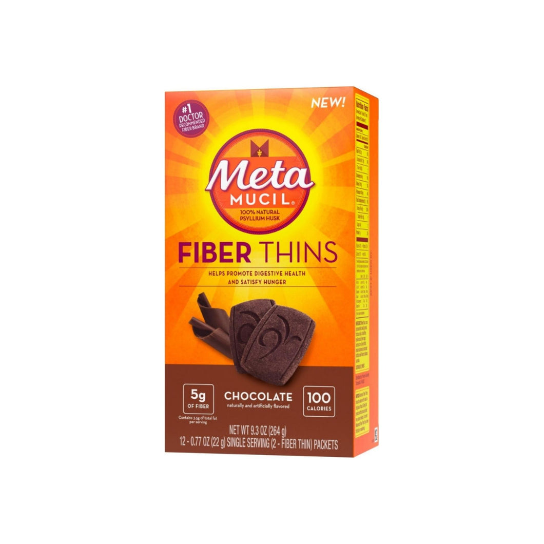 Metamucil  Chocolate Fiber Thins Fiber Supplement, 12 ea