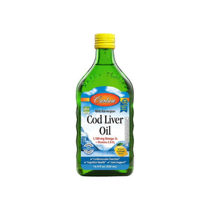 Carlson  Cod Liver Oil 1,100 mg Omega-3s, Lemon, 16.9 oz