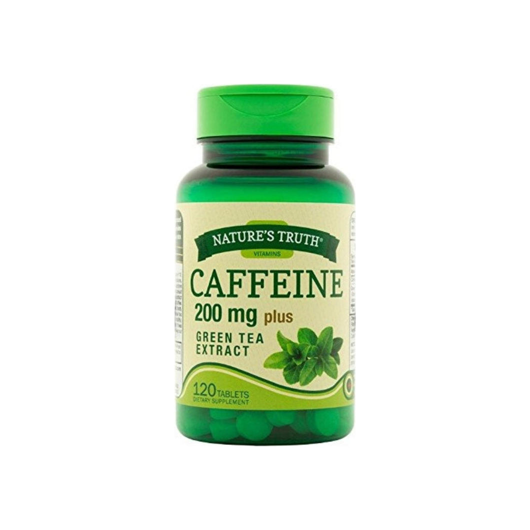 Nature's Truth Caffeine Tablets Plus Green Tea Extract Dietary Supplement, 120 ea