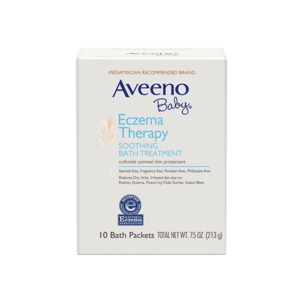 AVEENO Baby Eczema Therapy Soothing Bath Treatment with Natural Oatmeal,  10 ea