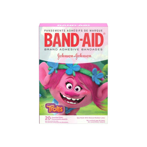 Band-Aid Brand Adhesive Bandages, DreamWorks Trolls, Assorted Sizes,  20 ea