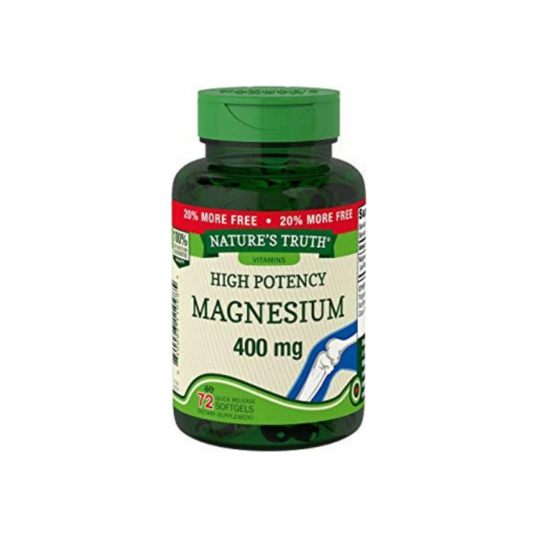 Nature's Truth Magnesium 400 mg Quick Release Softgels, 72 ea