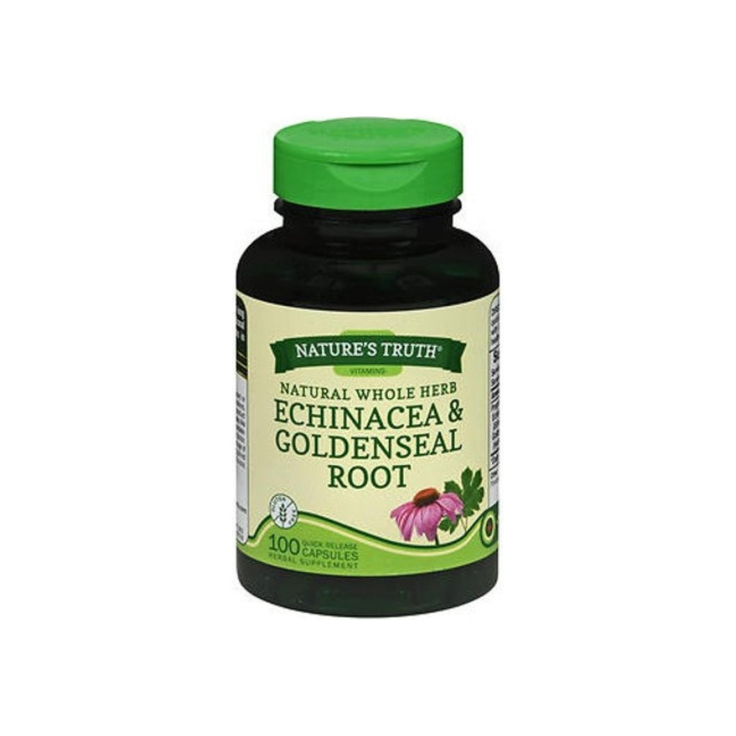 Nature's Truth Whole Herb Echinacea & Goldenseal Root Capsules, 100 ea