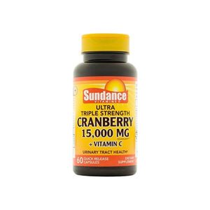 Sundance Vitamins  Triple Strength Cranberry 15000 mg Tablets, 60 ea