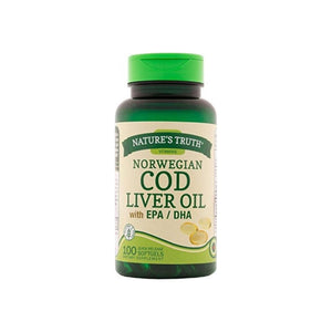 Nature's Truth Norwegian COD Liver Oil Supplement, 100 ea