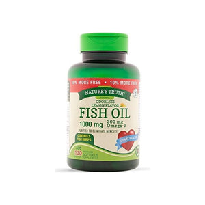 Nature's Truth Odorless Fish Oil 1,000 mg, Lemon Flavor, 110 ea