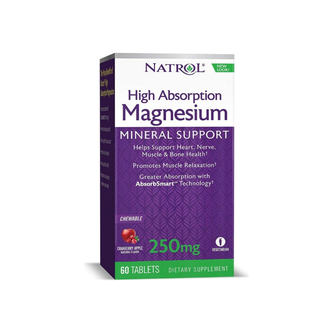 Natrol High Absorption Magnesium Chew Tablets, 60 ea