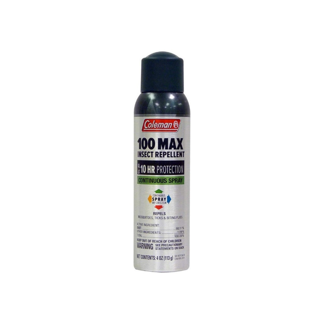 Coleman 100% Maximum Deet Insect Repellent Continuous Spray, 4 oz